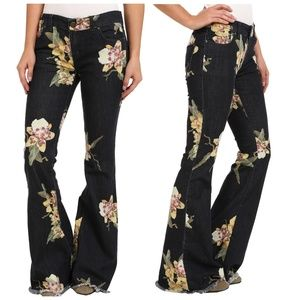 Free People Bali flare floral Miami nights jeans